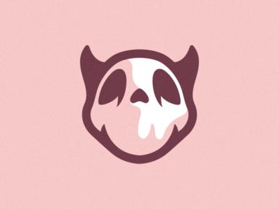 Cute Skull character cartoon brand identity branding skull art skull logo skull cute icon ux flat photoshop illustrator vector graphic design logo art illustration creative design
