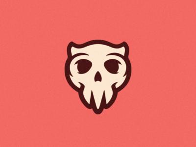 Skull Logo cute art cute designs minimalist minimalistic brand design logo design skull art skull ui photoshop illustrator branding vector graphic design logo art illustration creative design
