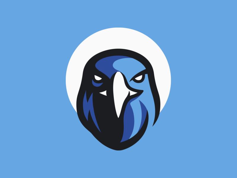 Eagle Logo Design face blue eagle logo logo design illustration art artwork esport mascot logo hawk eagle photoshop illustrator branding vector graphic design logo art illustration creative design