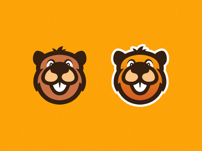 Beavers mascot logo esports logo design logos artwork character orange cute face beaver branding photoshop illustrator vector graphic design logo art illustration creative design
