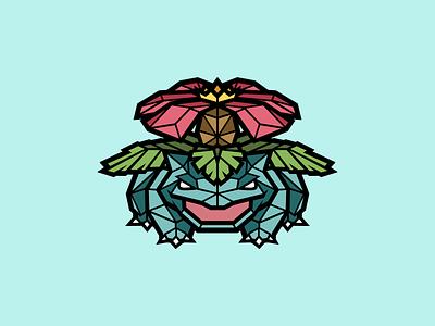 Venusaur mascot logo illustration art green logo design graphicdesign designer venusaur pokemon artist artwork branding photoshop illustrator vector graphic design logo art illustration creative design