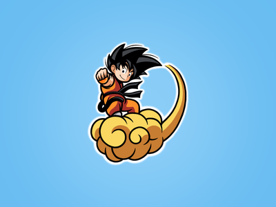Goku Sketch clean anime cute art direction artist artwork illustration art sketch character design character cartoons cartoon dragonball goku graphic design photoshop art illustration creative design