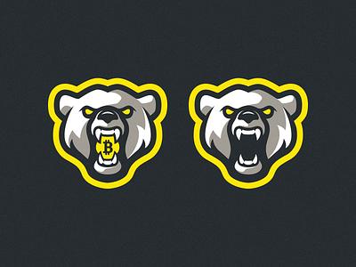 Bitbear 2.0 artwork polar bear team sports logo badge logo design bitcoin yellow bear mascot logo branding photoshop illustrator vector logo graphic design art illustration creative design