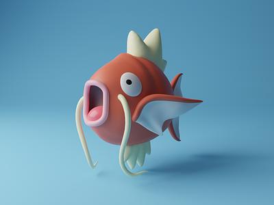Magikarp cute fish magikarp blender3d blender creative concept game design game art scene render artwork artist art pokemon art pokemon 3d modeling 3d artist 3d art 3d