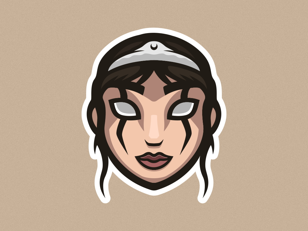 Queen Mascot Logo ux app cute drawing crown bride princess queen esports ui mascot logo illustrator graphic design art vector logo illustration design creative branding