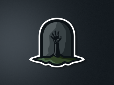 Gravestone Mascot Illustration