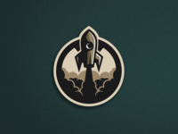 Rocket Badge Illustration
