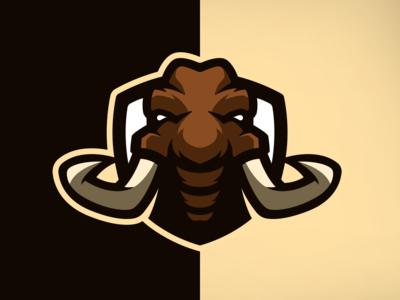 Mammoth Mascot Illustration
