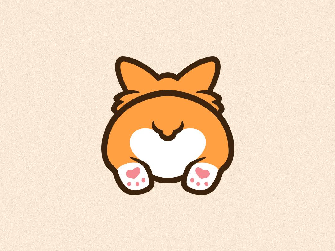 Corgi Emote Illustration icon ui cute animal twitch emote cute dog corgi minimal flat photoshop illustrator graphic design art vector logo illustration design creative branding