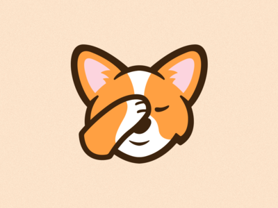 Facepalm Corgi Emote