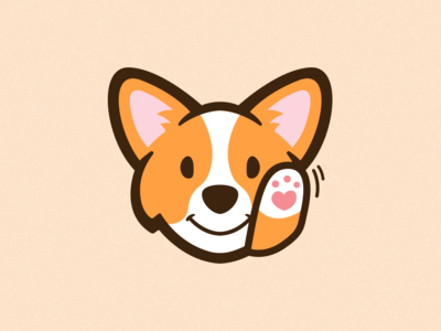 Waving Corgi Emote