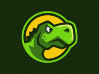 Dino Badge Illustration