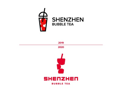 Shenzhen Bubble Tea - Revisited tea drink red redesign design logo logo design branding brand identity