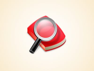 Book Icon book icon magnifying glass osx