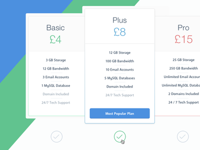 Pricing Table web ux design ui design ux ui buttons flat clean table price chart price pricing