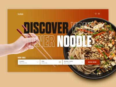 Noodles food clean search web design ui