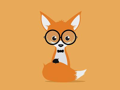 Geeky Fox fox geek geeky nerd nerdy illustration