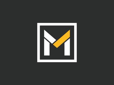 Makarios Branding Option #1 typography letter white black yellow m logo design branding logo