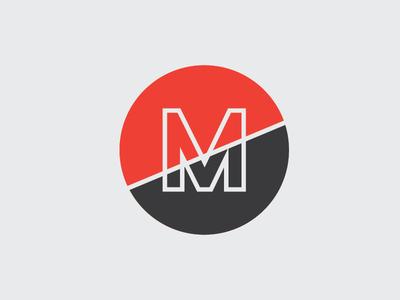 Makarios Branding Option #2 typography letter white black yellow m logo design branding logo