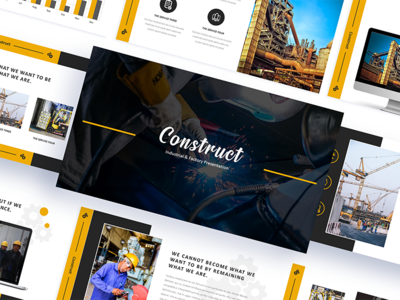 Construct Industrial & Factory Powerpoint Template