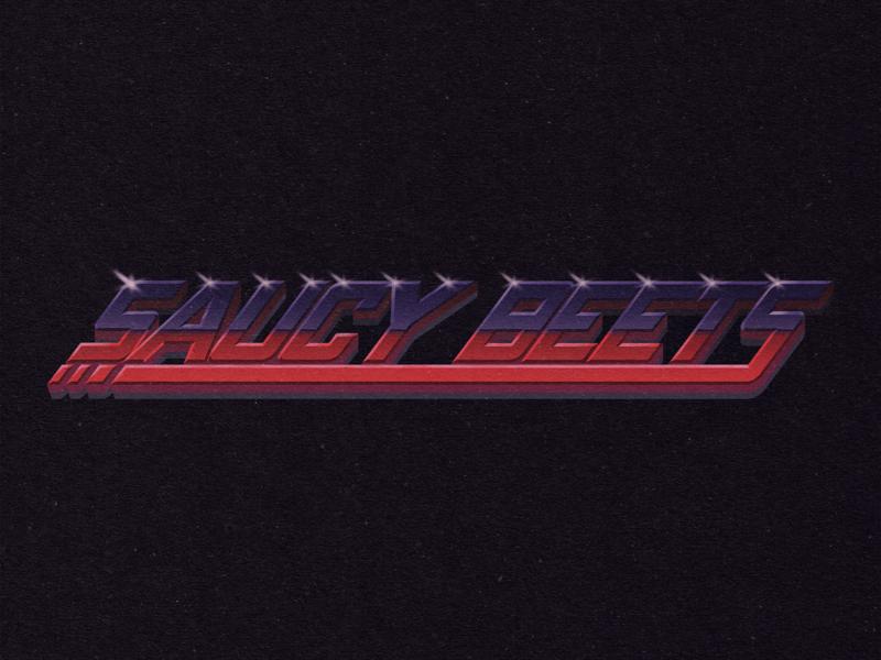 Saaauuccy vaporwave synthwave signalnoise 80s style retrowave retro 80s custom type typography logo illustration brand and identity branding design illustrator drawing