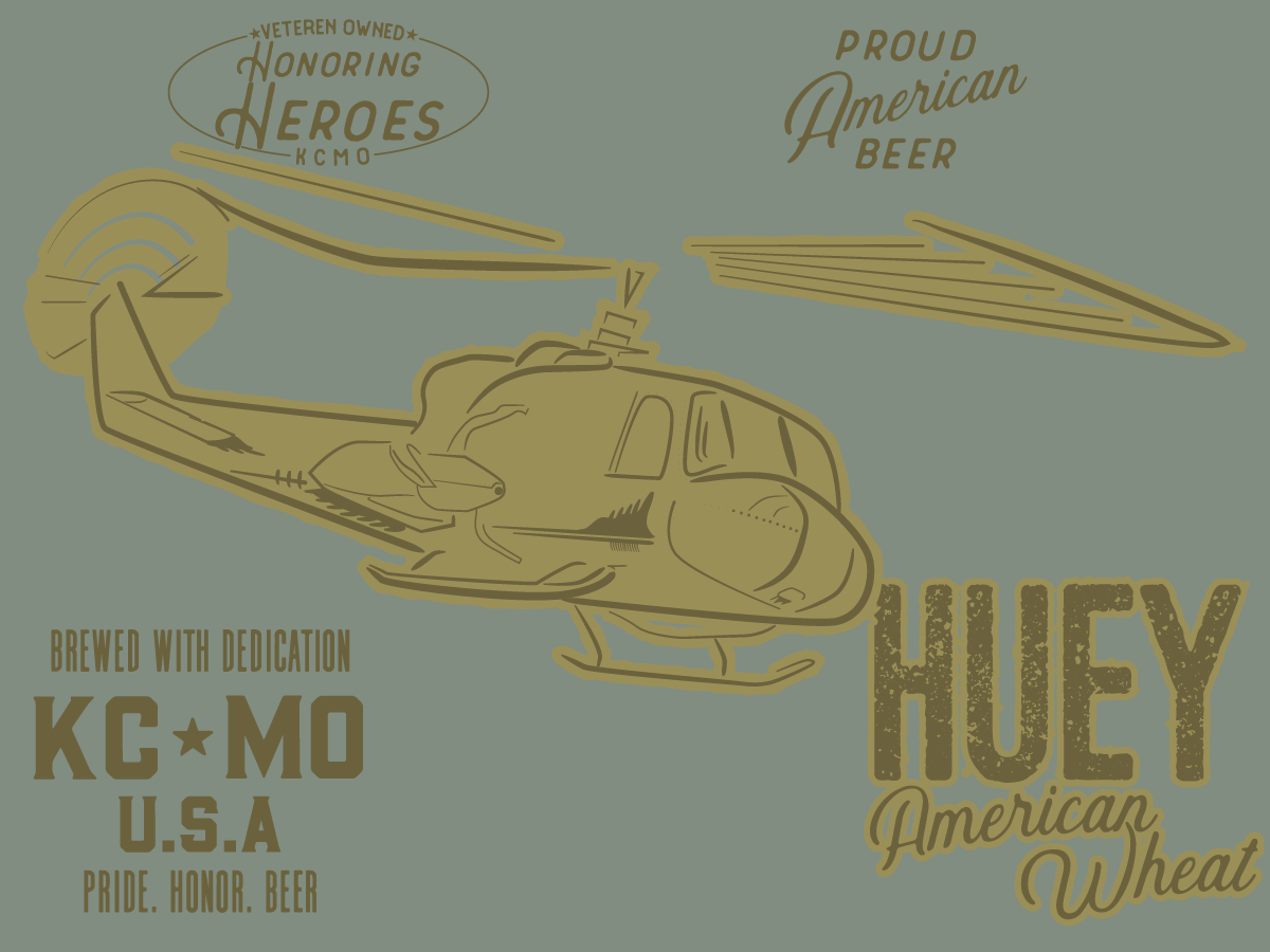 Huey Wheat helicopter typography sketch illustration illistration custom design craft beer logo custom type craft brew brewery beer branding beer illustation drawing branding brand identity branding brand and identity illustrator design