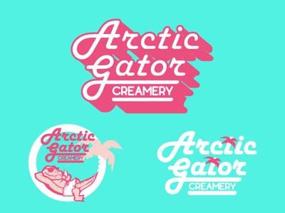 Arctic Gator Creamery Branding