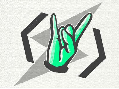 Friday Feelz brand identity custom type typography illustration logo branding illustrator drawing design friday rock