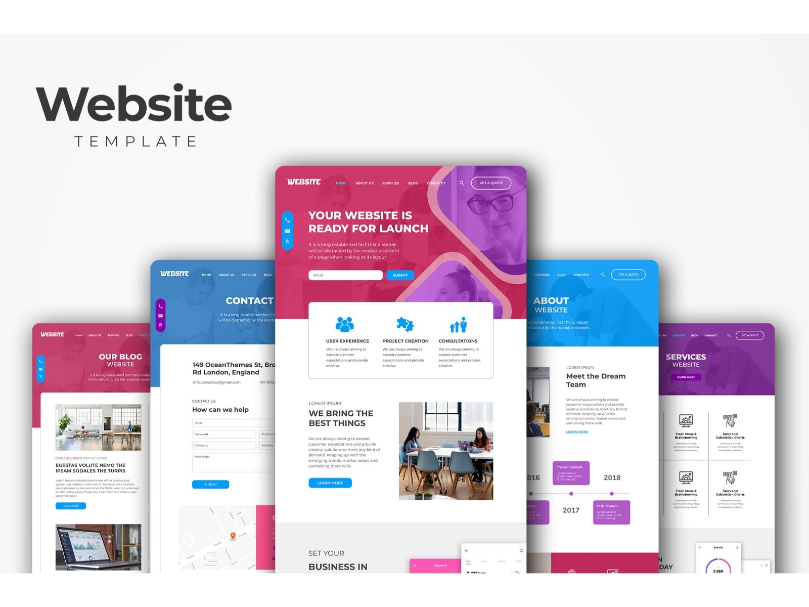 Professional Corporate Websites Templates By Uicreative On Dribbble