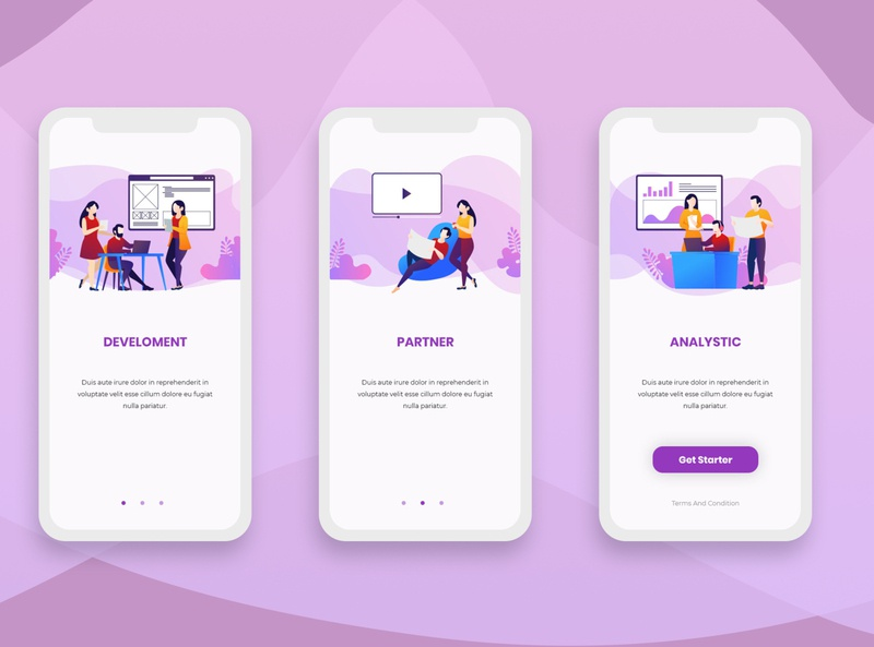 Onboarding Screens Mobile App
