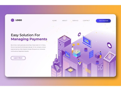 Digital Payment Isometric Landing Pages ux ui display business illustration vector isometric illustration isometric design isometric landing page design website design ui design user interface branding web design web design agency