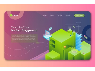 Smart Building Isometric Landing Pages ux ui display business illustration vector isometric illustration isometric design isometric landing page design website design ui design user interface branding web design web design agency