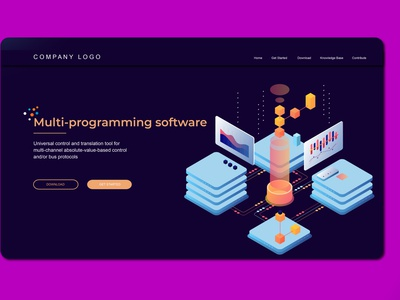 Multi Programming Isometric Landing Pages ux ui display business illustration vector isometric illustration isometric design isometric landing page design website design ui design user interface branding web design web design agency