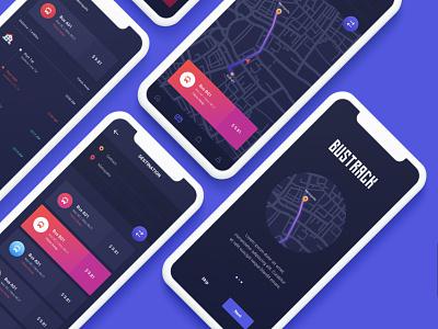 BusTracker  Mobile UI KIT ux user interface ui design ui mobile ui mobile design mobile app design business
