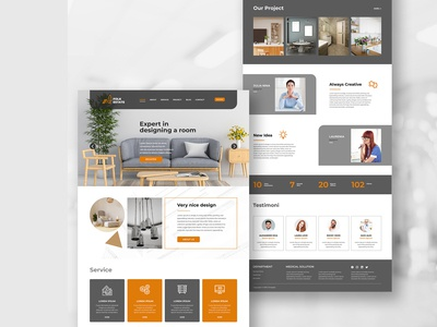 Living and Furniture Landing Pages