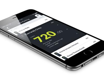 Tennis Rankings / General Page - iPhone tennis simple minimal ios interface clean apple app flat ui