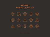 Nature Minimal Icons Set