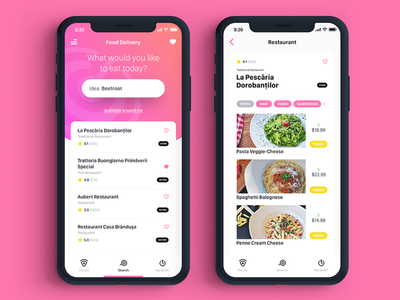 Delivery app mobile ux ui concept ios11 delivery food iphone app