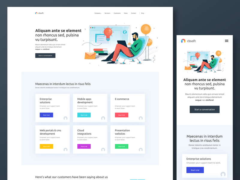 Web Development design vector simple layout illustration minimal flat ux ui clean