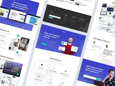 Creative Agency Landing Page Design marketing website web uiux ux ui modern mobile minimal creative agency layout landing page interface figma digital design dailyui