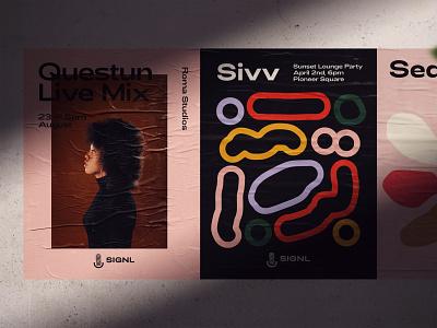 SIGNL logo branding typography studio design pattern seattle