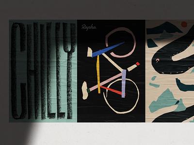 Rapha Collection studio design cycling poster ballasiotes siotes rapha