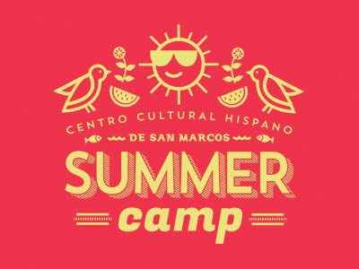 summer camp  illustration typography summer summer camp t-shirt