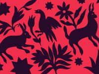 Otomi textile pattern