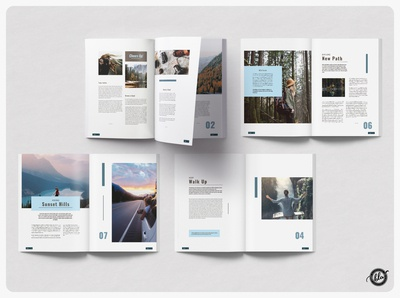 GONDOLA Adventure Magazine advertising photographer adobe indesign unique pages creative design modern ebook spring travel adventure indesign template magazine photography editorial a4 size template design print design layout design templates minimalist