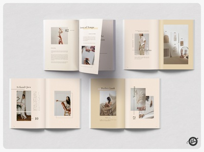 TEMPE Photography Portfolio creative design printable print layout branding ebook feminine minimal layout photographer adobe portfolio us letter photography a4 size indesign editorial template design print design minimalist templates layout design