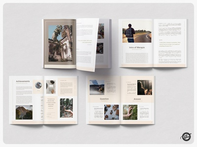 MERAPIE Travel Magazine indesign multipurpose minimal layout merapi mountain nature travel adventure magazine template magazine merapie photography modern editorial print design layout design templates minimalist