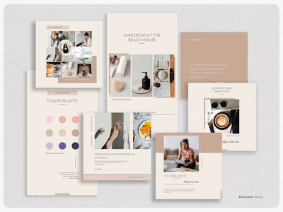 LYRA Instagram Template post story social media banner canva psd quote download blog moodboard photographer content creator blogger clean feminine professional lifestyle photoshop templates minimalist