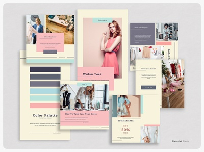 PRICILLE Instagram Template social media artist fashion photographer content creator banner template stories quote indesign photoshop post instagram color palatte minimalist download blogger design canva blog