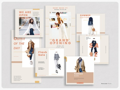 Fashion Instagram Jafa | PS autumn sale post feed story web instagram woman outfit clothing feminine product catalog photography professional modern editorial layout design templates minimalist
